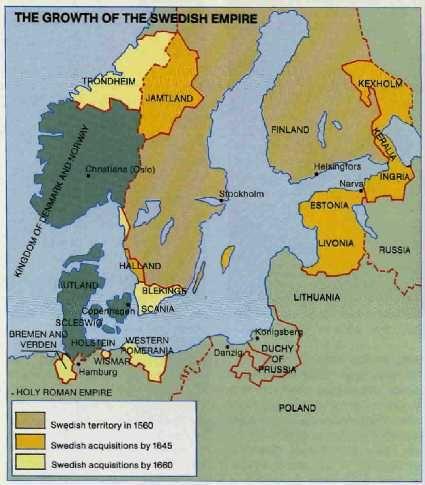 The Growth Of Swedish Empire 1560 1660 Sweden Scandinavia Map Historia Karta