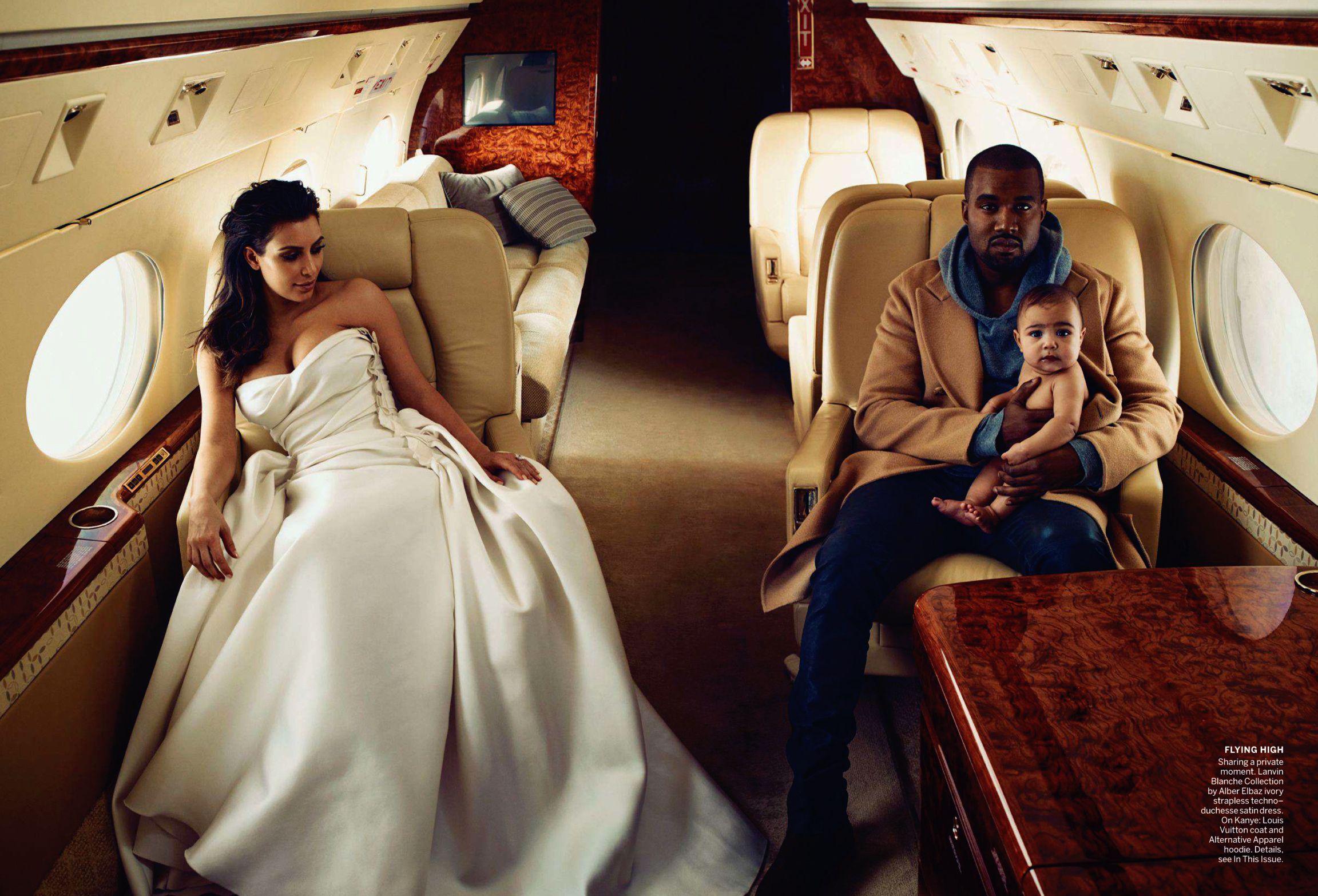 west kanye Kim vogue kardashian