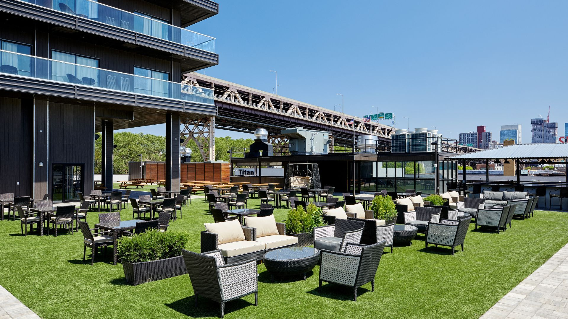 An Urban Oasis Elevated Beer Garden and Outdoor Eatery.