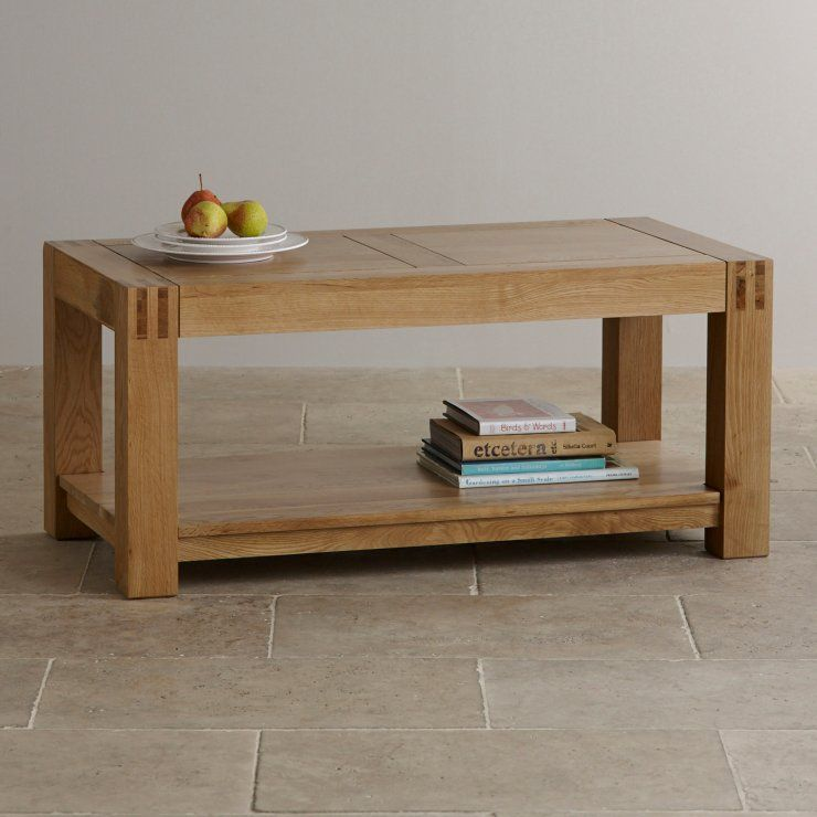 The Alto Solid Natural Oak Coffee Table Is The Ideal Combination Of Style,  Practicality And