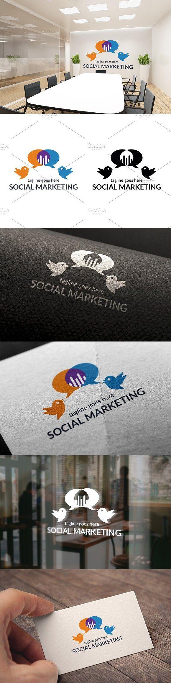 Social Marketing Logo Marketing Logo Social Marketing Web Graphic Design