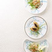 Bar et saumon en tartare - une recette Poisson - Cuisine