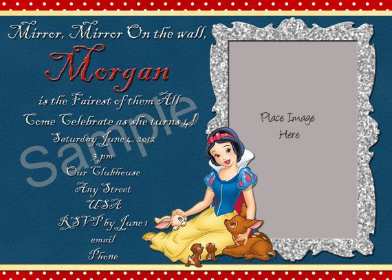 Snow White Birthday Invitation Wording Idea Savvy S 1st Birthday