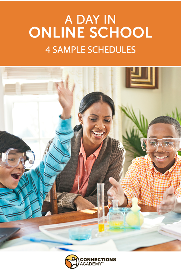daily schedules for virtual school families