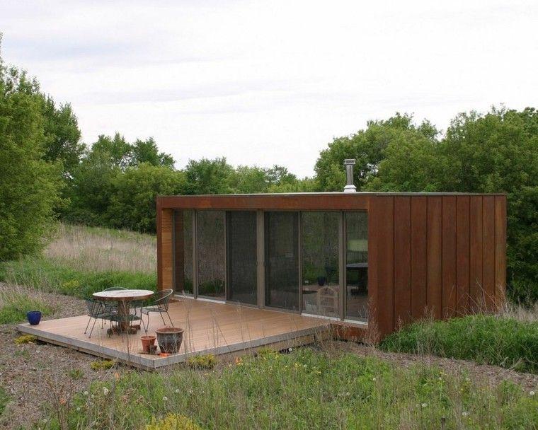 Casa peque a de estilo minimalista arquitectura for Casas prefabricadas minimalistas