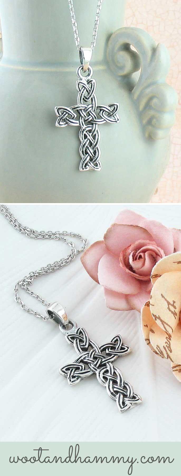 Woven Celtic Cross Necklace | Pinterest | Drahtschmuck