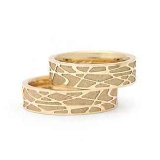 Ausgefallene Trauringe In 750 Gold Ringform Aussen Gerade Innen