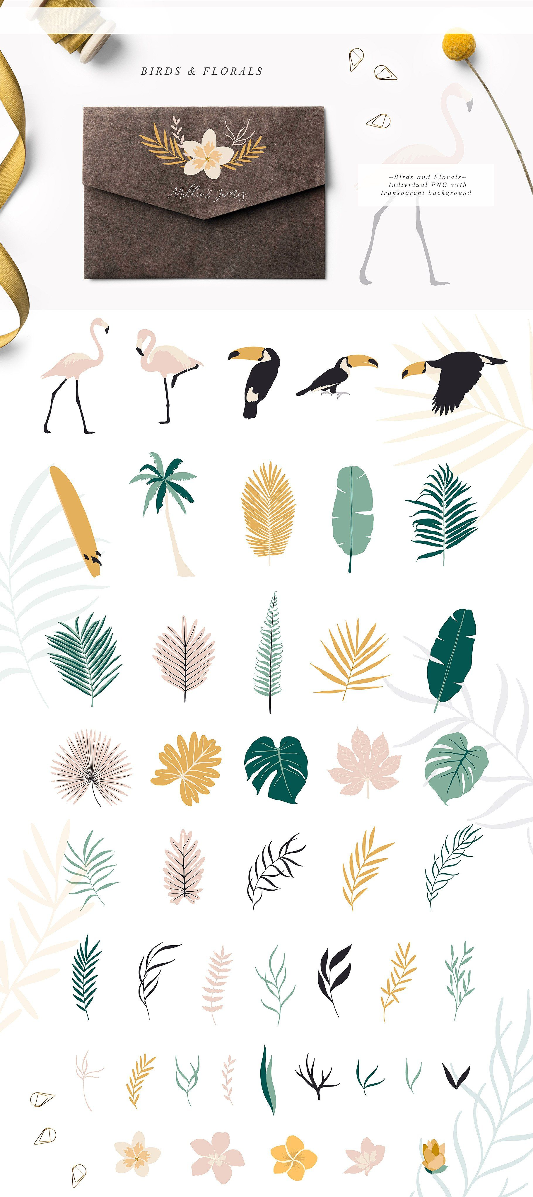 Tropic Paradise Collection by Julia Dreams on @creativemarket #tropicalpattern