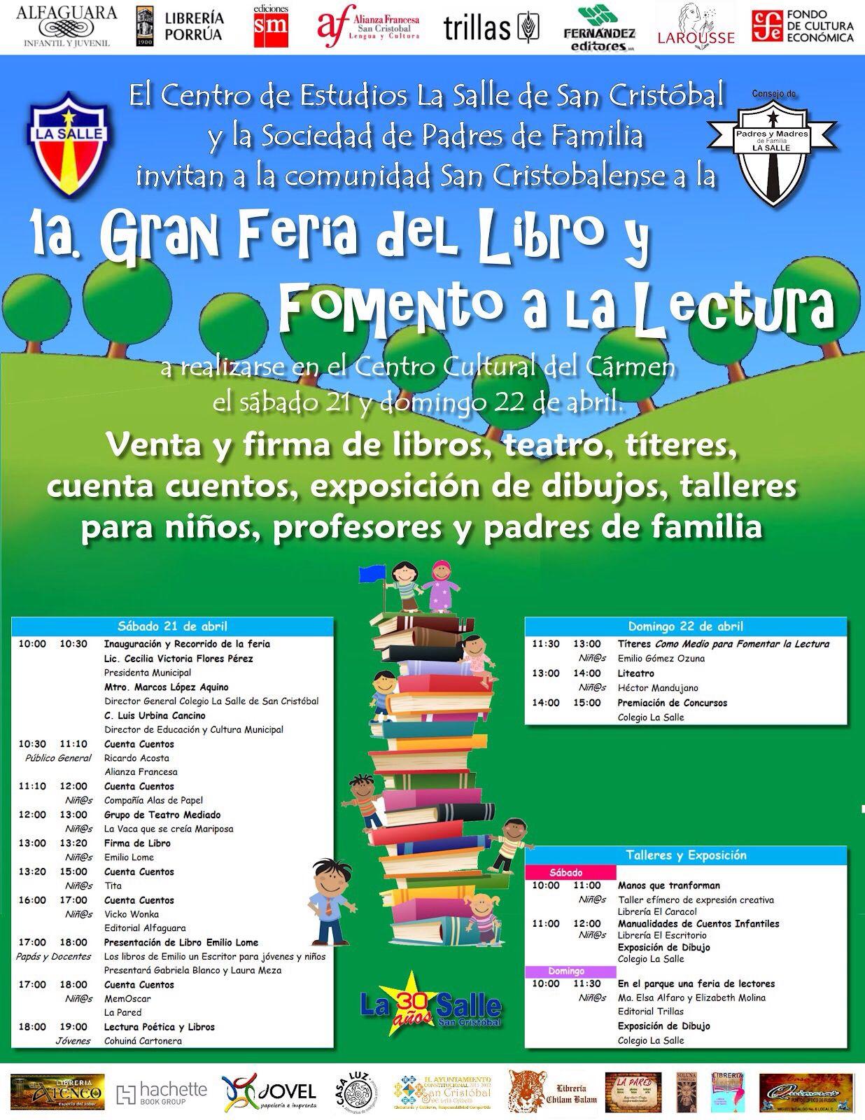 1era Feria del Libro San Cristóbal #el comienzo de un gran proyecto