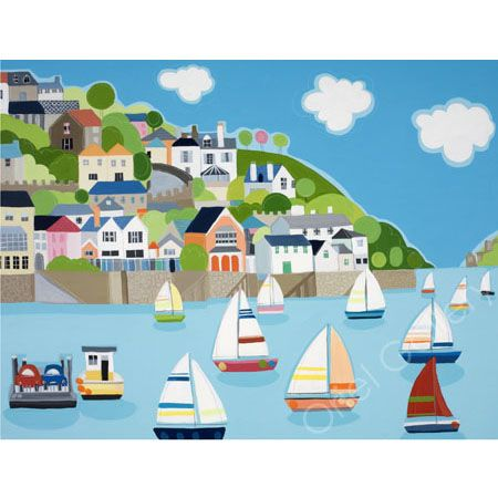 Sailing on the Dart by Janet Bell