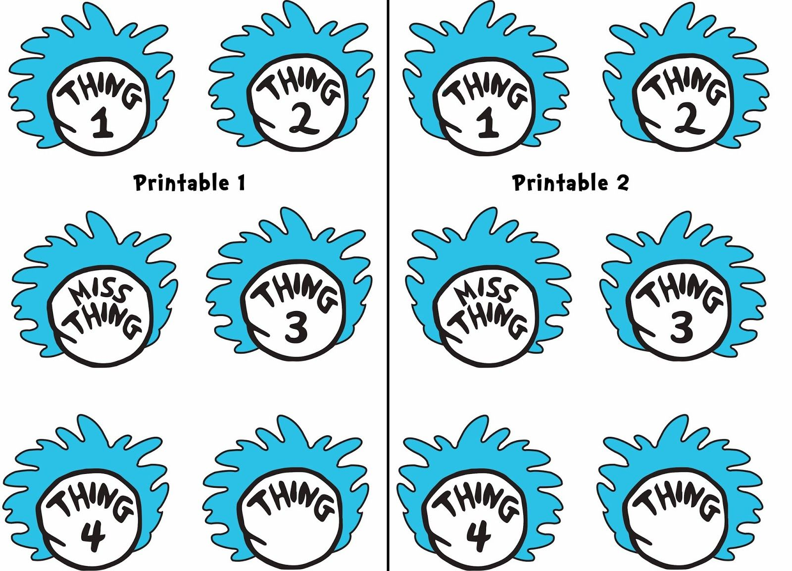 Thing 1 and Thing 2 Straws | school projects | Pinterest | Classroom ...