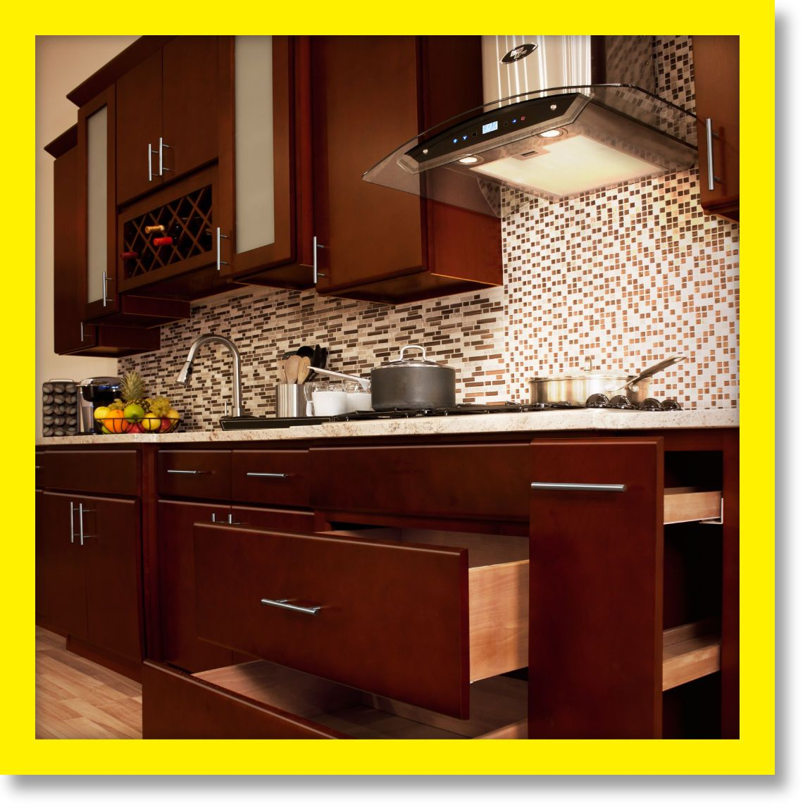 All solid wood kitchen cabinets villa cherry kitchen remodel