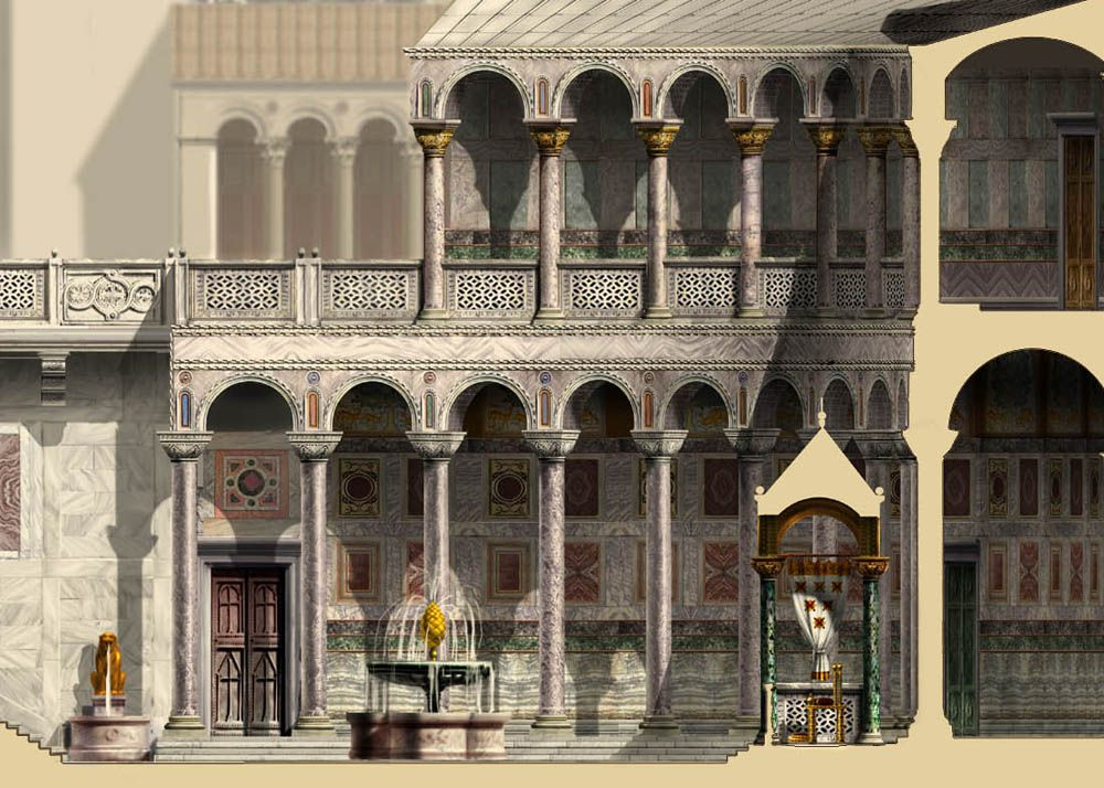 roman byzantine architecture illustrations portraits and scenes by