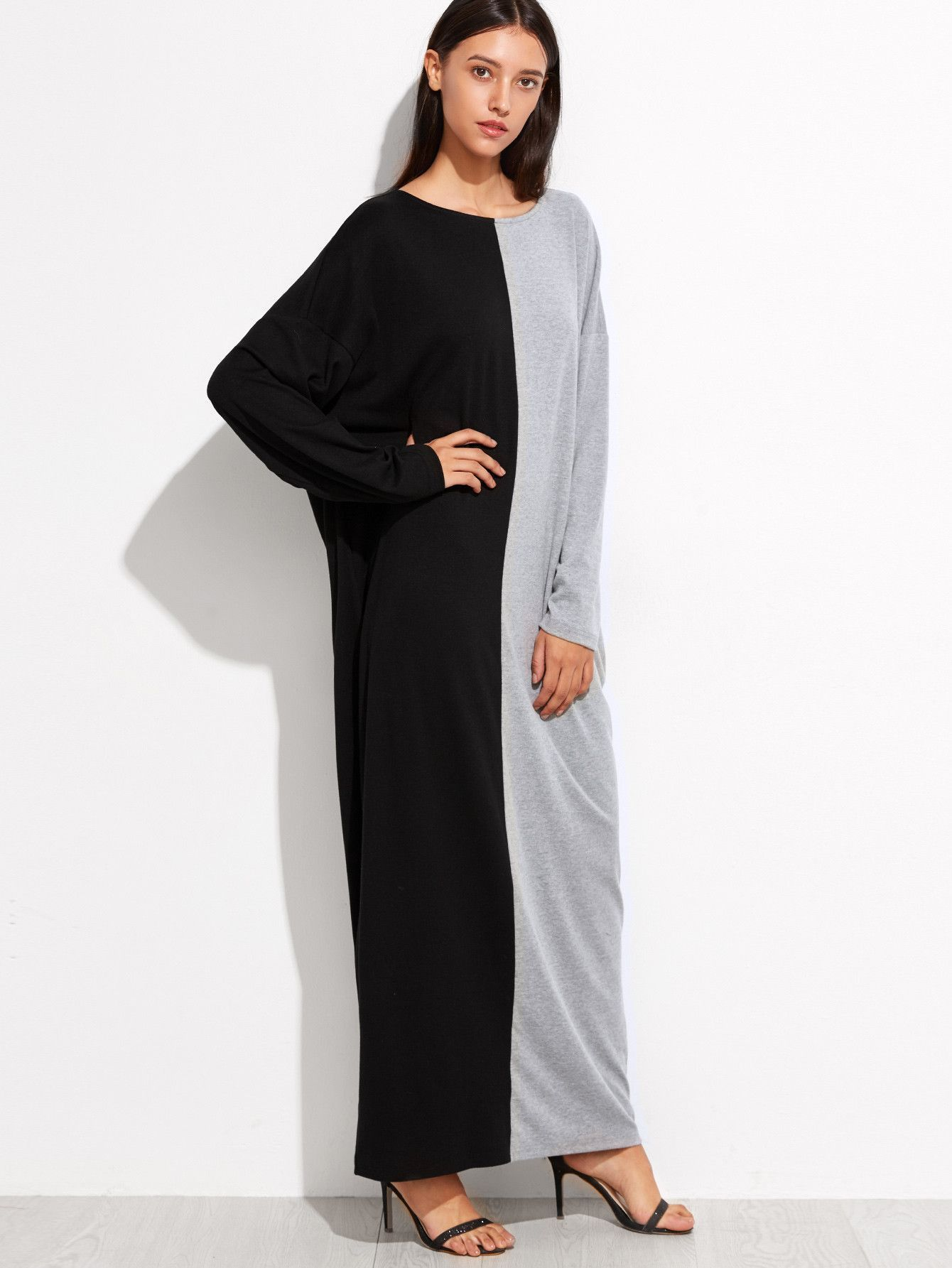 Maxi Dress with Dolman Sleeves