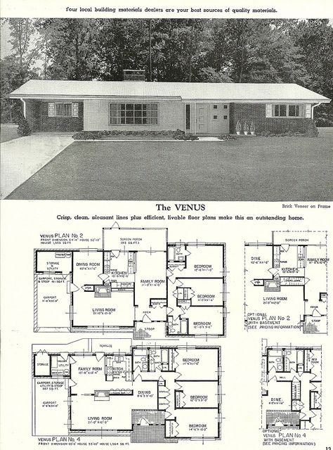 Venus House Plans With Pictures House Plans And More Mid Century Modern House Plans
