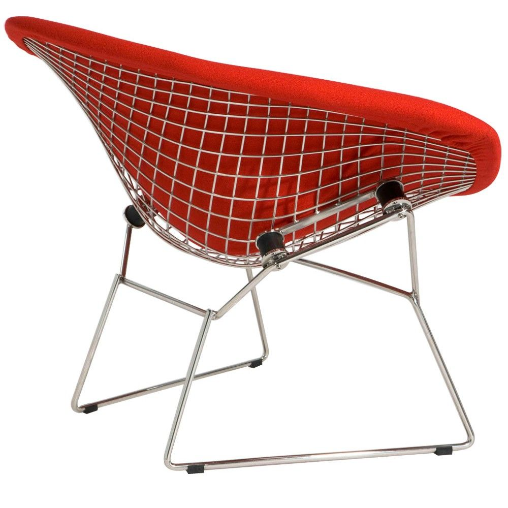 Harry Bertoia Upholstered Wire Diamond Chair Replica Harry
