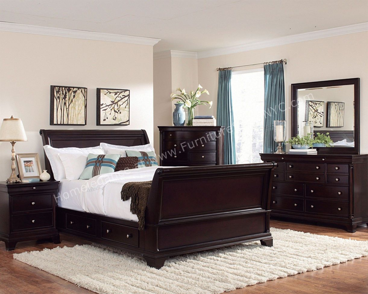 Dark Cherry Wood Bedroom Furniture Sets Room Dark Cherry Wood