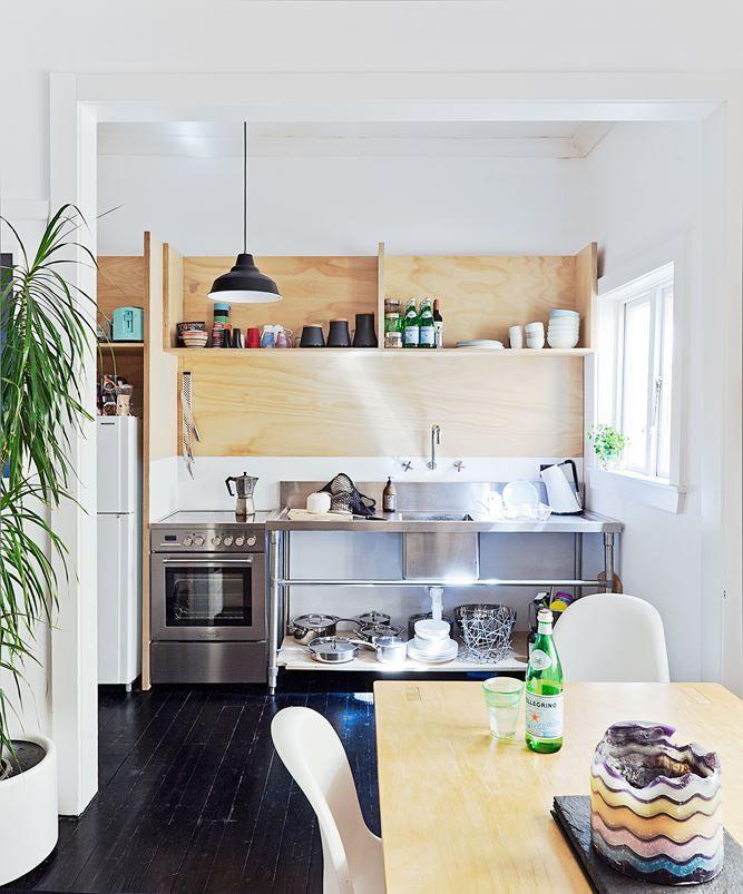 Budget Bondi Bachelor Pad  Kitchen Shelf Design Shelf Design And Entrancing Kitchen Shelves Design Review