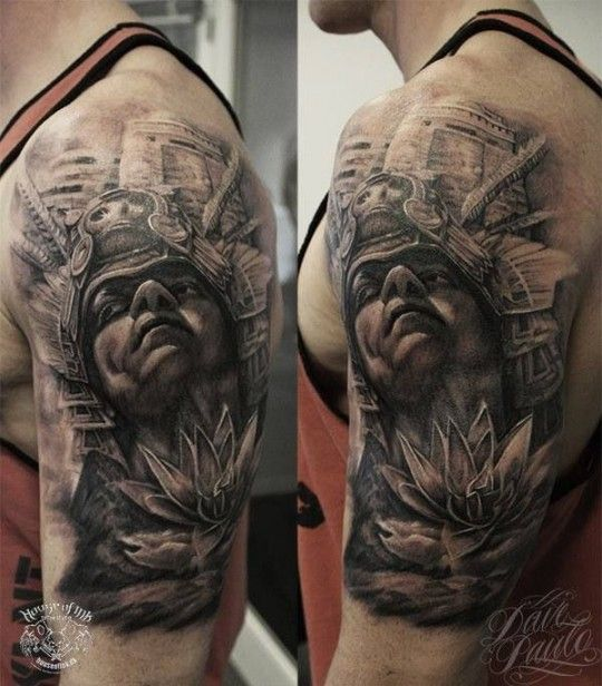 Aztec Warrior Tattoo by Dave Paulo | Awesome Tattoos For ...