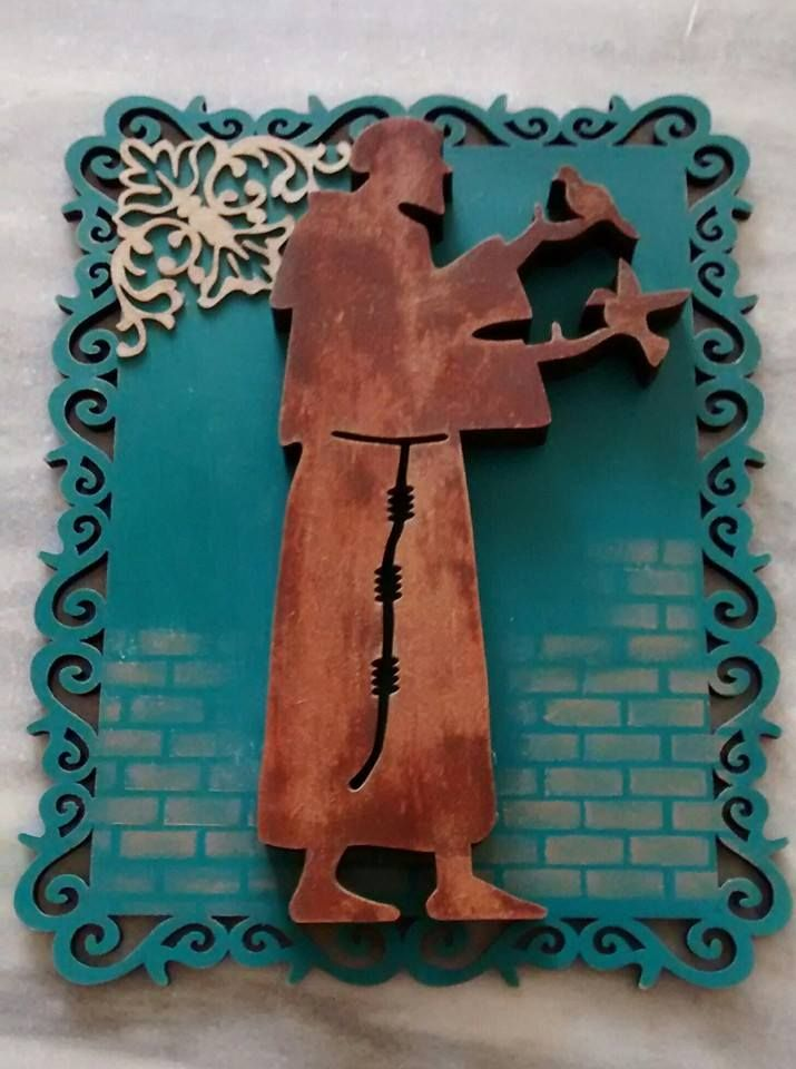 Quadrinho São Francisco de Assis, em placa de mdf cortada a lase ...