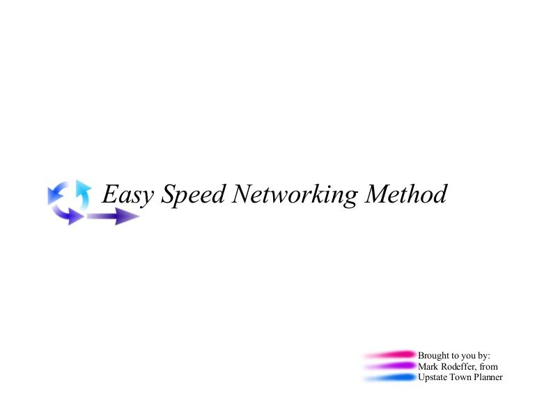 Easy Speed Networking Method Speed Networking Pinterest - cover page examples