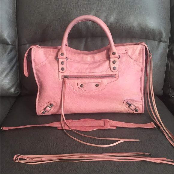 46bcace6601 Balenciaga classic city bag 100% authentic Balenciaga Classic City 2 way Bag  Rose Blush 9