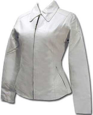 Womens Leather Jacket with Zip Lining