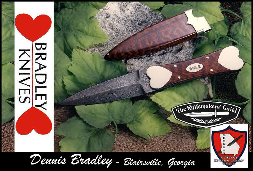 I love Dennis Bradley's knives! Very collectable.