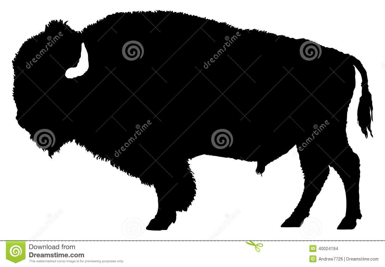 Bison Silhouette Clip Art