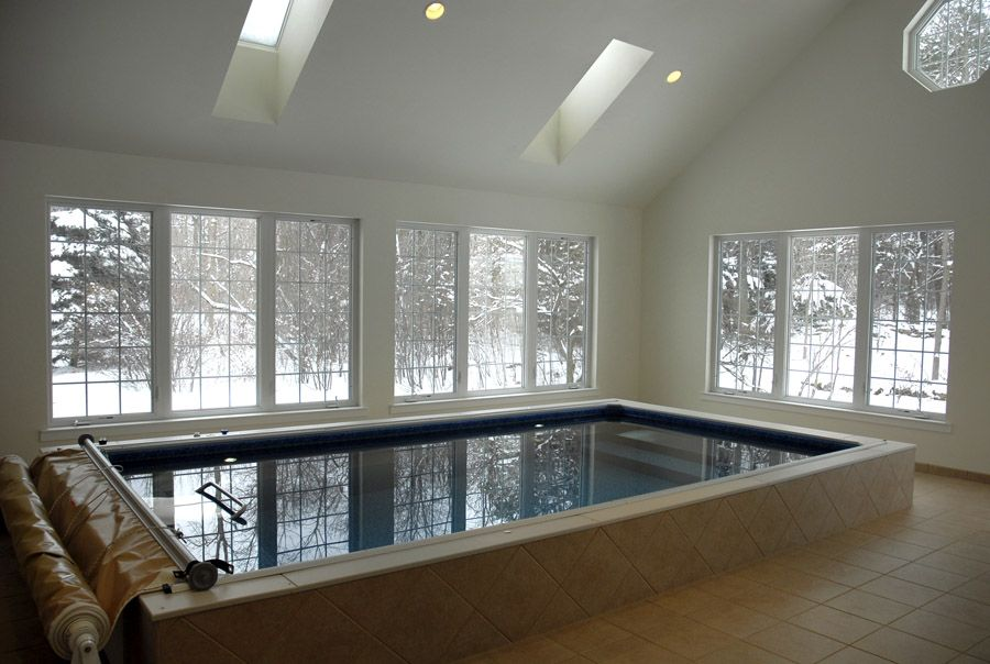 Indoor Endless Pool temperature controlled swimming with a ...