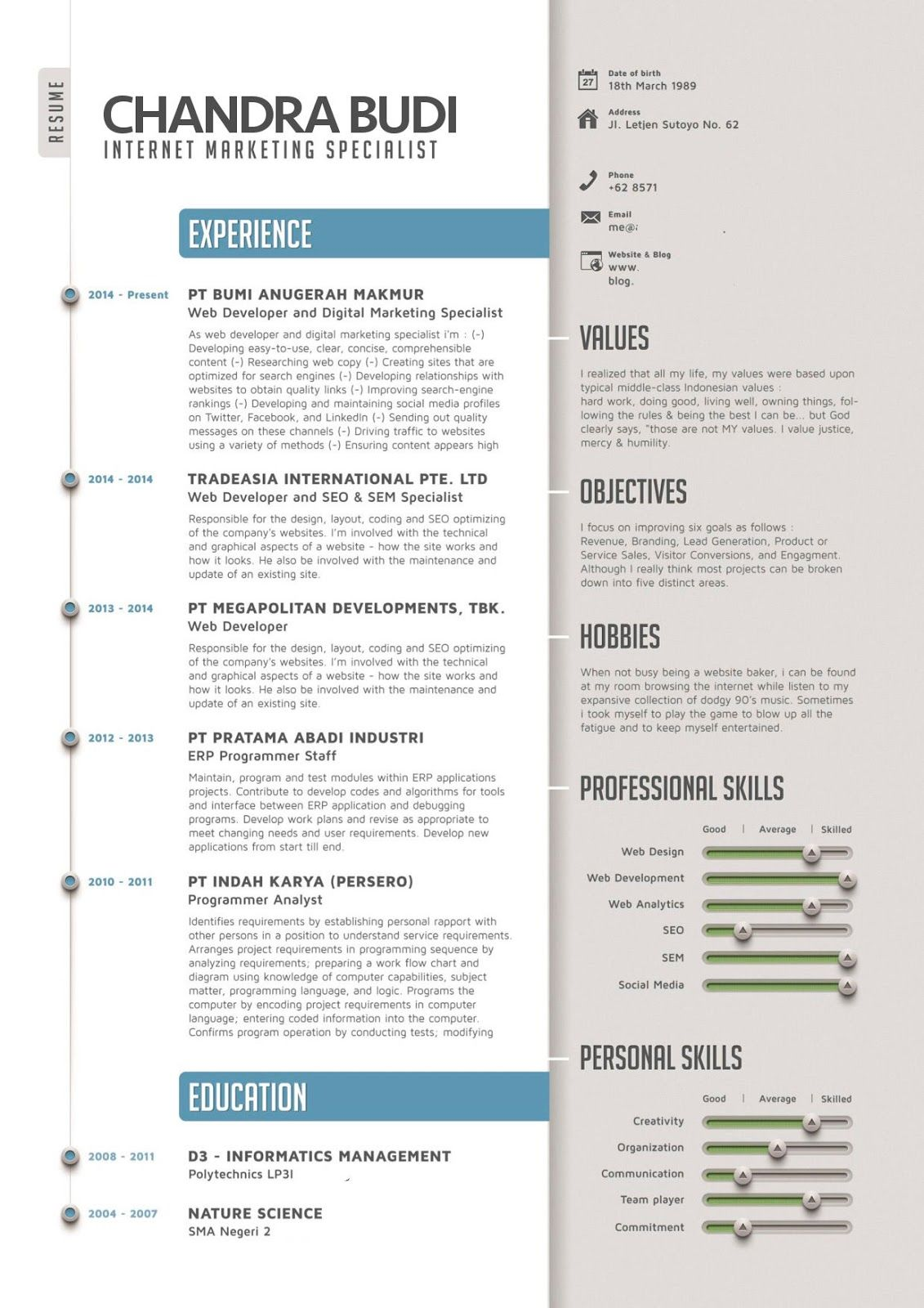 Curriculum Vitae B Inggris Modelo De Curriculum Vitae Curriculum Vitae Resume Creative Cv