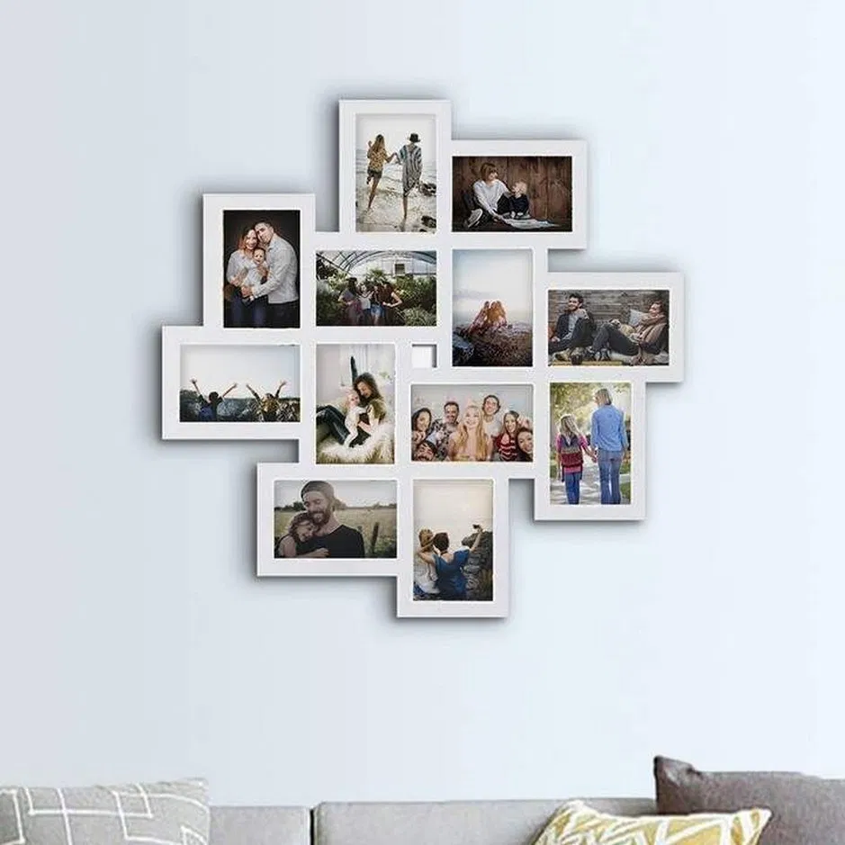 36 Easy Ways To Decorate A Blank Wall 28 Birdexpressions Com Walldecor Walldecorideas Homedec Hanging Picture Frames Collage Picture Frames Picture Frames