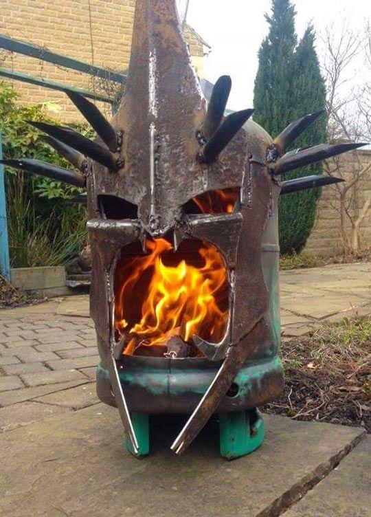 Witch King Fire Pit Grill selber bauen, Grill und Ofen - feuertonne selber machen