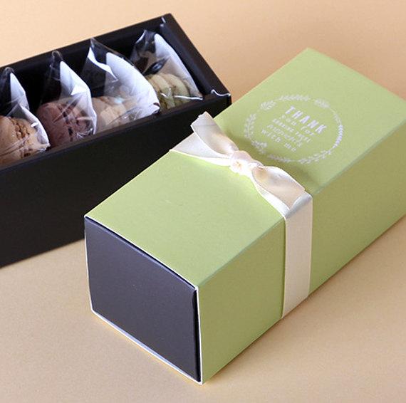 Baking Boxes / Small / Green / Macaron boxes / Fits 5 Macarons ...