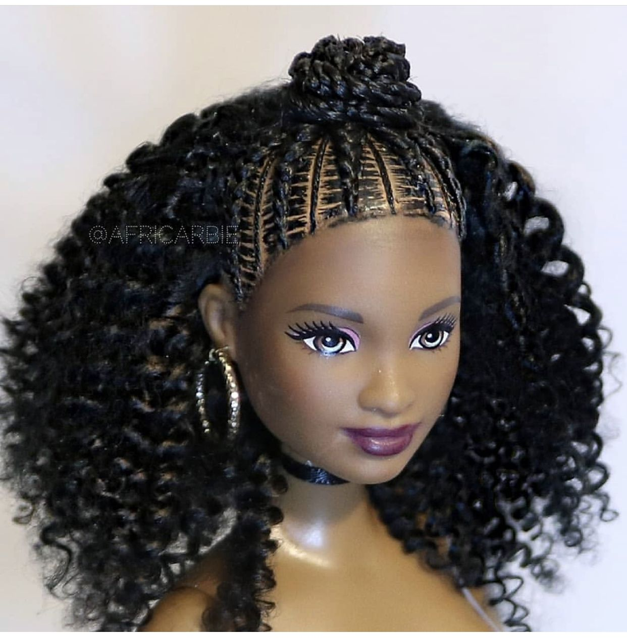 These Dolls Created By Doll Designer Africarbi Are To Die For Emily Cottontop Natural Hair Doll Barbie Hair Natural Hair Styles