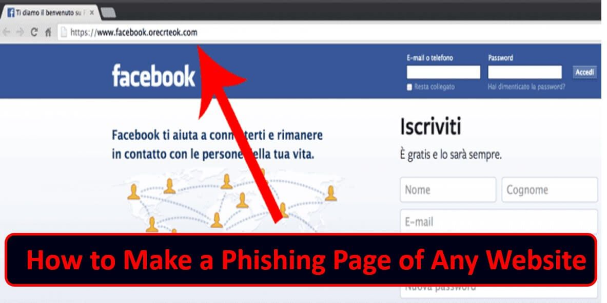 How to make a phishing page of any website or web page if