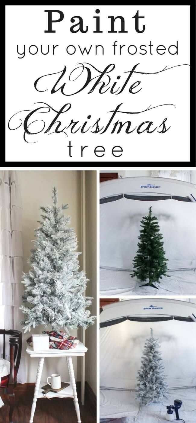 DIY a White Christmas Tree