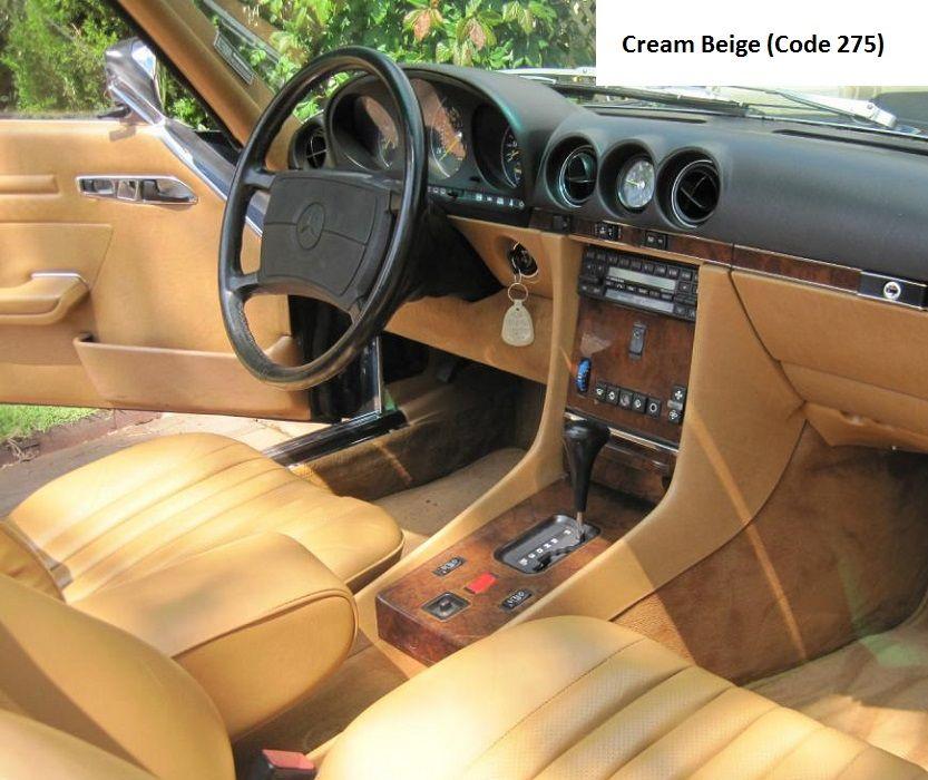 Mercedes R107 560sl Cream Beige Interior Mercedes R107 560sl Pinterest