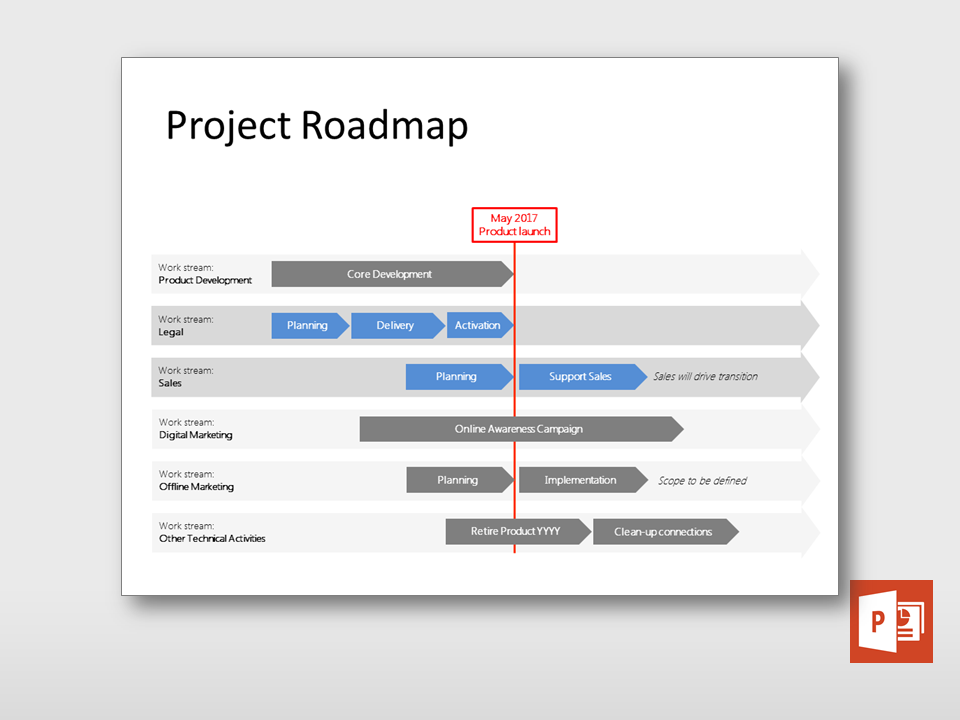 Check out this new Project Roadmap Multiple Tracks template at https ...