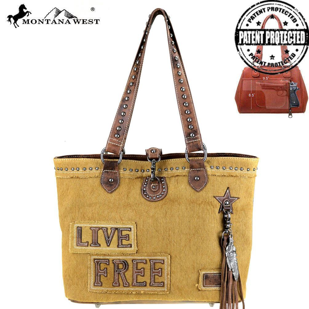 Mw375g 8217 Montana West Fringe Collection Concealed Carry Tote