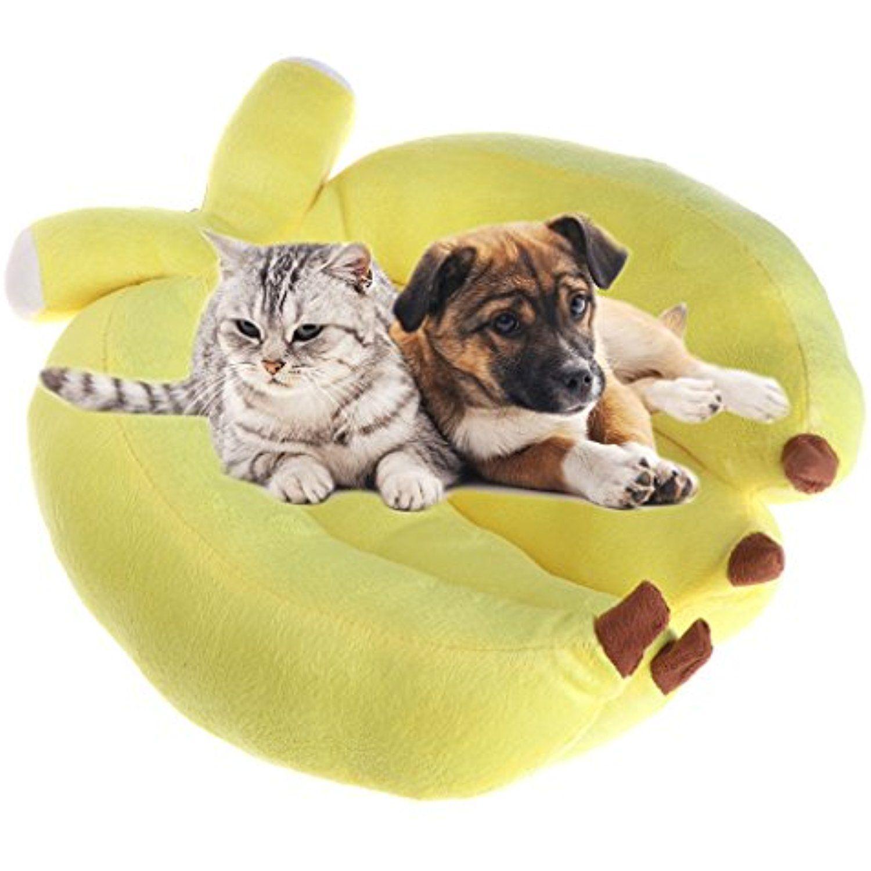 Onpiece Small Dog Cat Banana Shaped Pet Bed, Medium