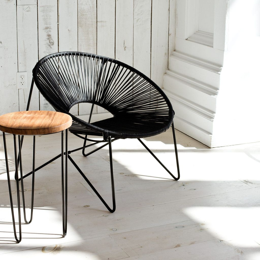 Aldama chair black black acapulco chair mexican for Terrace chairs