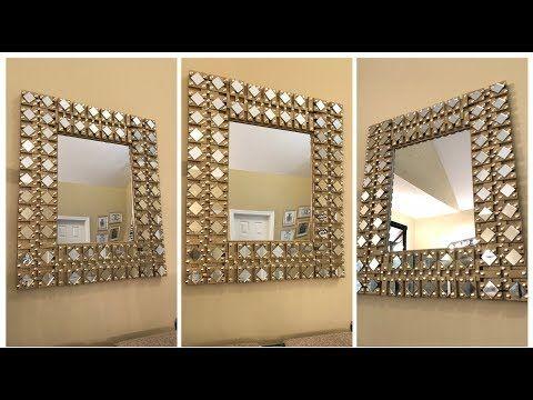 Dollar Tree Diy Gold Glam Wall Mirror Youtube Diy