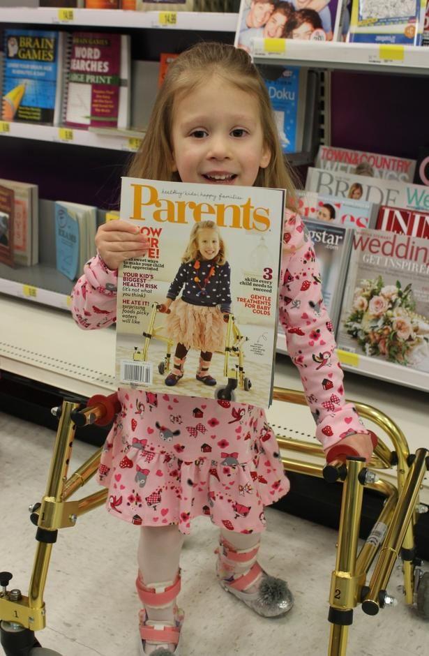 Adorable Spina Bifida Cover Girl Lights up Parents Magazine