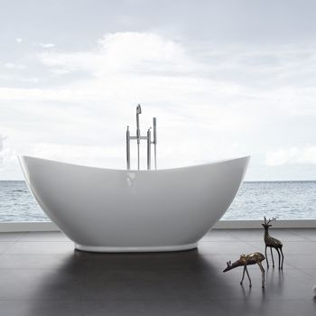 Oval Freestanding Tub     Costco, $900. Jono Luna Ovoid Free Standing