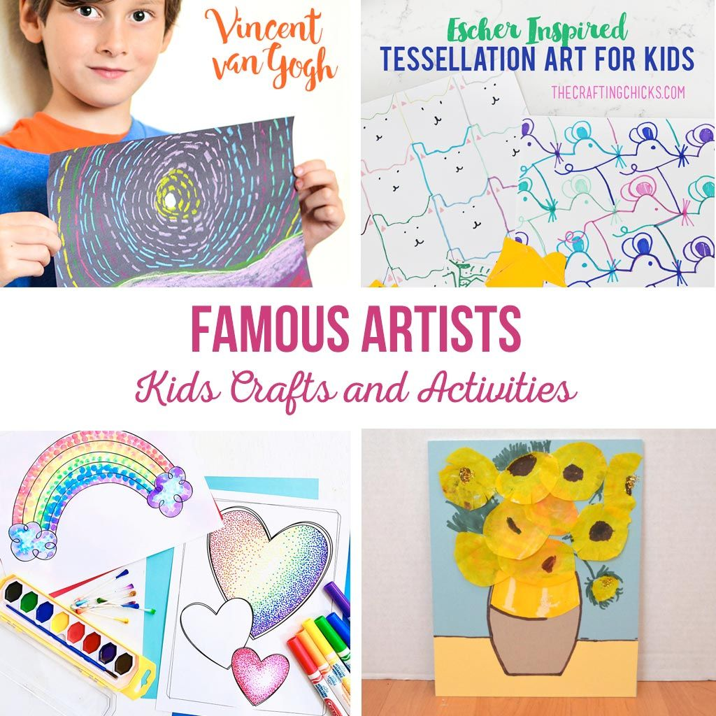 Photo of Famous Artists Kids Crafts and Activities