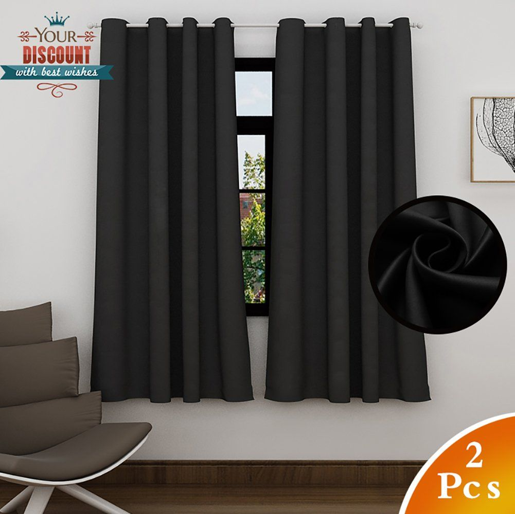 3 window bedroom curtains  lefeng blackout curtains room darkening solid thermal insulated