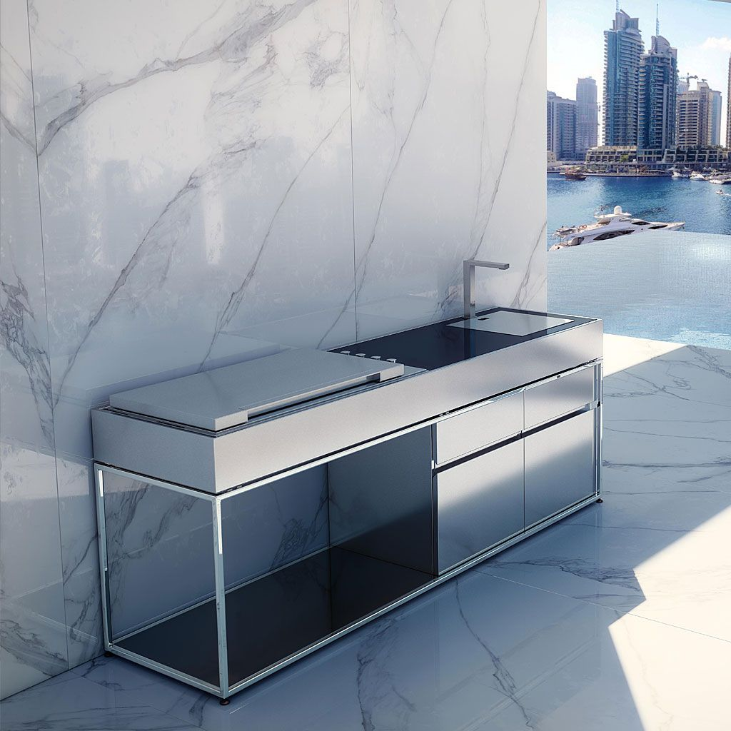 Outdoor Küche Q Cocoa Island Luxury Outdoor Kitchen Is A Modern Stainless