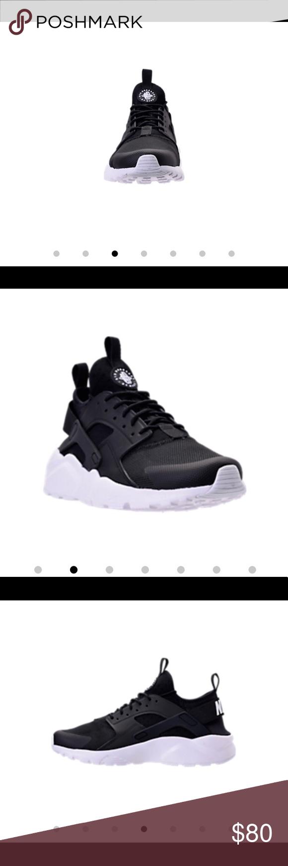 nike air huarache scarpe nere e indossato solo una volta le scarpe nike
