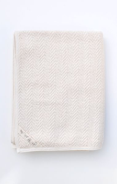 fog linen herringbone bath towel...